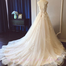 Waulizane Elegant Embroidery Tulle A-Line Wedding Dresses