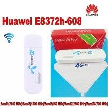 1000 шт. (+ 4 г TS9 антенны) открыл новый huawei E8372 E8372h-608 4 г LTE 150 Мбит Беспроводной USB Wi-Fi модем