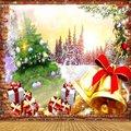 Рождественский Колокольчик колокольчик Зимний снег подарок красная кирпичная стена фон компьютерный принт фон для фото на вечеринке
