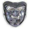 Alta calidad borrador con la bombilla de la lámpara ligera principal del faro de color negro de la motocicleta utilizada para moto yamaha fz 16 fz16