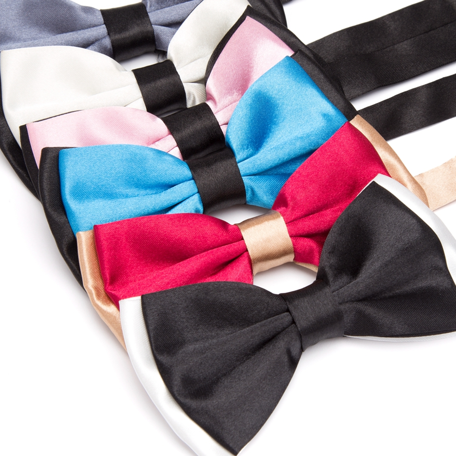 The British Men's Plain Neck Tie To Bowtie Casual Business Polyester XGVOKH Brand Wedding Tuxedo Bow Ties Necktie Accessory