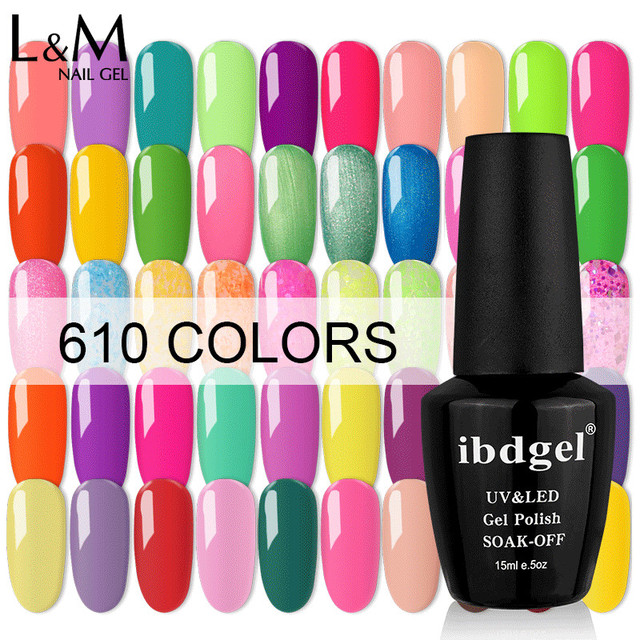 12 Pcs Ibdgel Color Uv Gel Nail Polish Glitter Quality Hot S Varnish Gelpolish For