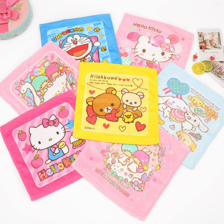 New Anime Cat Brown Bear Baby Handkerchief Printed Towel Feeding Towels 30CM Gauze Nursing Toweling hanky cep mendil taschentuch