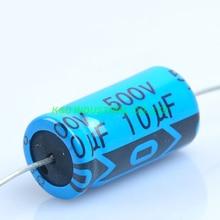 4pcs Axial Electrolytic Capacitor 10uf 500V for Tube Amp DIY цена и фото