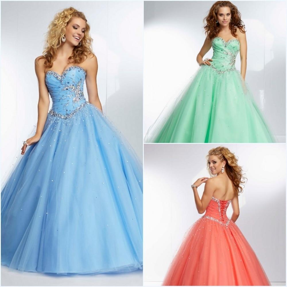 En Stock barato azul \\ rosa \\ verde De novia Vestidos para ...