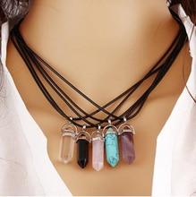 8SEASONS Created Fashion Multi Color Quartz Chakra Necklaces Pendant Necklace Chain Crystal Necklace Women Jewelry Accessories