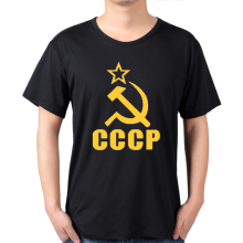 summer CCCP T Shirts Men USSR Soviet Union KGB Man T-shirt Short Sleeve Moscow Russia Tees Cotton O Neck Tops clothing