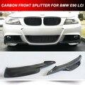 E90 LCI M TECNOLOGIA BUMPER FRENTE FLAPS 2 PCS DIVISORES SPOILER DIANTEIRO DE CARBONO PARA BMW