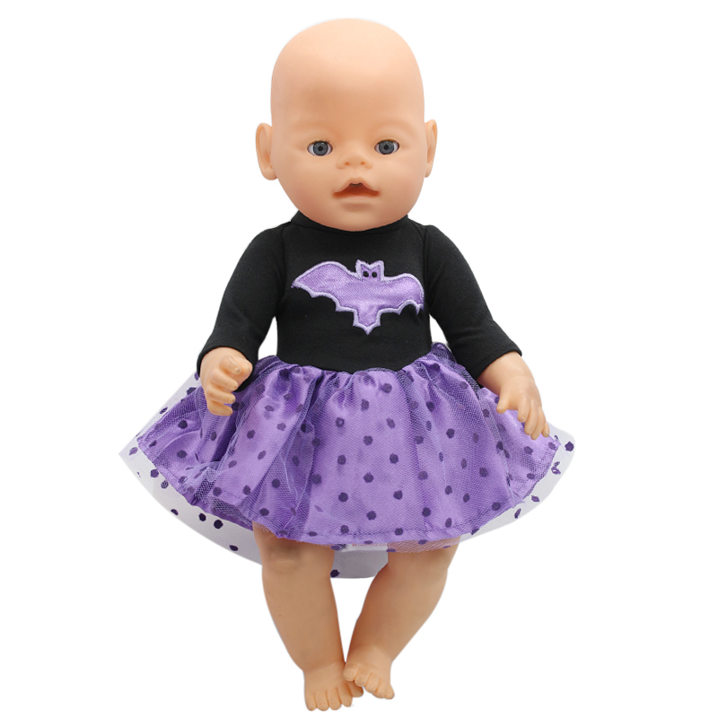 Baby Born Doll Clothes Cosplay Costume Batman Dress Fit 43cm Zapf Baby Born Doll Accessories Girl Birthday Gift X-150 zapf baby born doll clothes 15 styles bowknot princess skirt dress fit 43cm zapf baby born doll accessories girl gift x 171