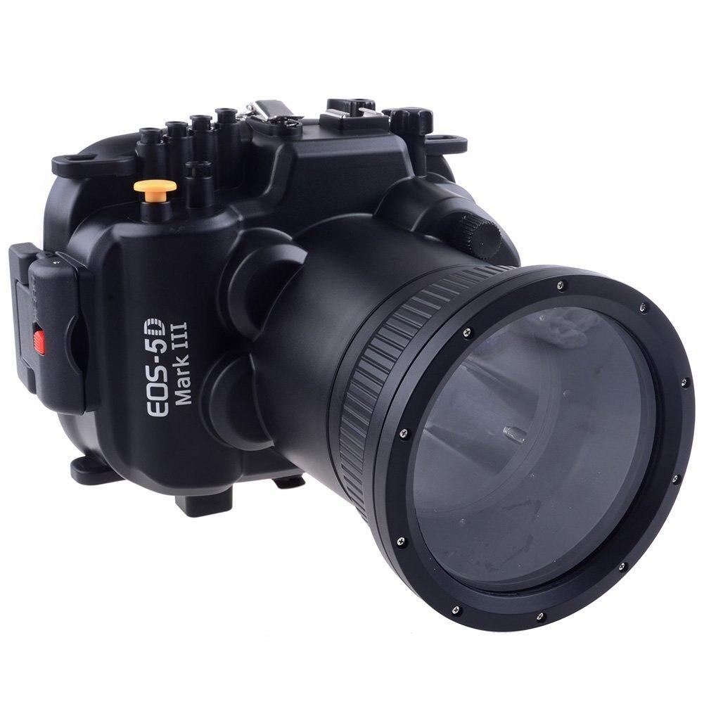 Meikon 60 m 190ft Étanche Caméra Sous-Marine Sac de Caisse de Logement pour Canon 5D Mark III 5D3 Caméra 24-105mm lentille