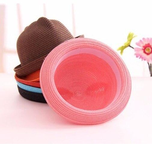 [DINGDNSHOW], модная соломенная шляпа, Летний стиль, для взрослых, украшение в виде ушей, прекрасная соломенная шляпа от солнца, одноцветная широкополая Панама для женщин