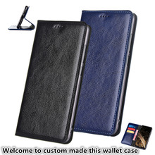 YM07 Genuine Leather Flip Stand Wallet phone bag For Samsung Galaxy A8 Plus 2018(6.0) Phone Case 2018