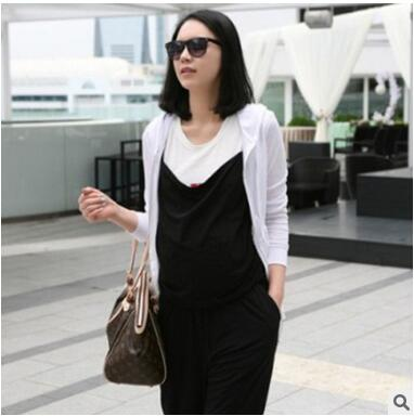 3ab438a228ba Summer Pregnancy Clothes Adjustable Shoulder Strap Elastic Waist Suspender  Trousers Maternity Clothing Black Lady Pants Overalls-in Pants   Capris from  ...