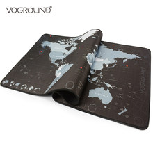 VOGROUND Large Mouse Pad New World Map Gaming Mousepad Anti-slip Locking Edge Waterproof Natural Rubber Desk Mouse Mat for Game(China)