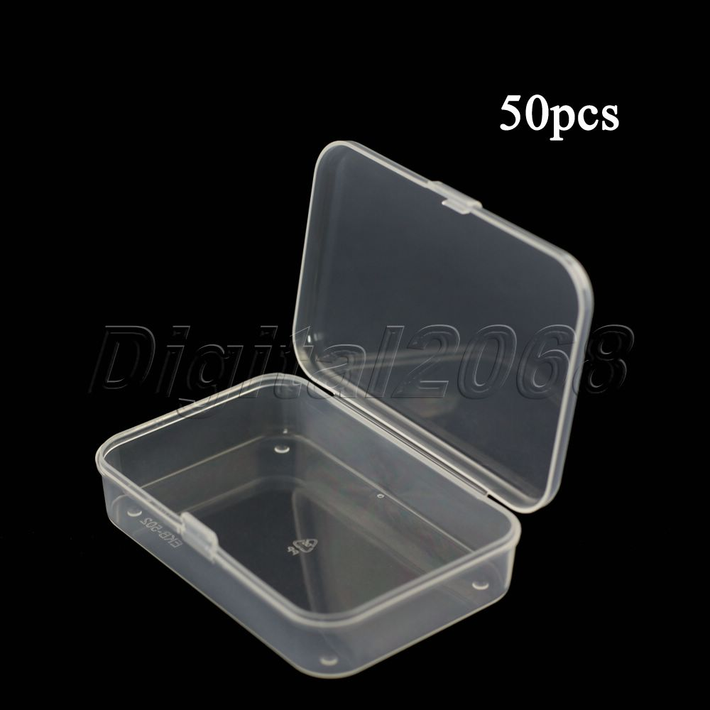 High Quality Box Wholesale 50PCS Plastic Universal Clear Transparent  Container Case Storage Box For Small Items Free Shipping In Tool Box From  Home ...