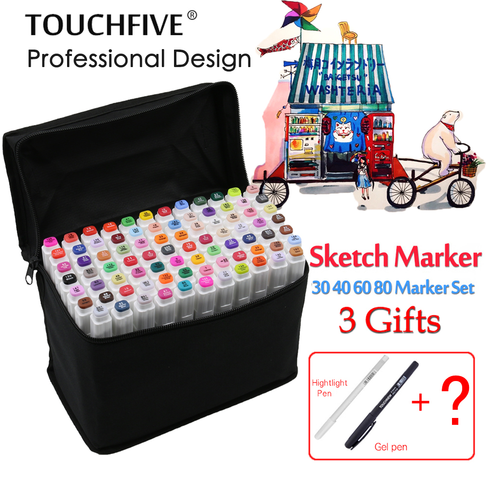 TouchFIVE sketch art Supplies mark pen Alcohol Marker pen soluble pen cartoon graffiti Art markers for designers markers baoke pop pen student art advertisement mark pen art design poster pen