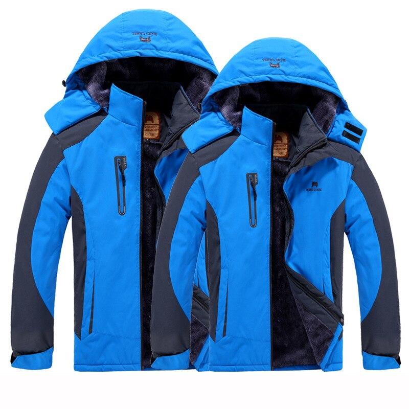 Winter Outdoor Jackets For Men Women Waterproof Jackets Windproof Sports Hiking Skiing Jackets Cycling Fishing Fleece Warm Coats