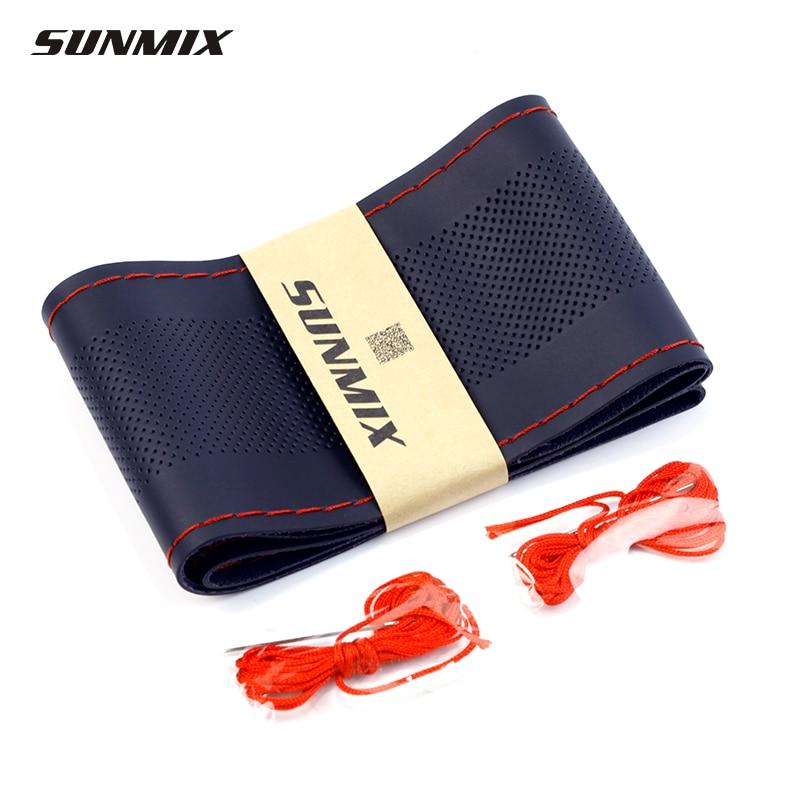 SUNMIX-kannettavan mikrokuituliittimen ohjauspäällysteinen ilmareiät ohjauspaneeli klassinen ultrathin käsin tunnettava auton ohjauspyörä