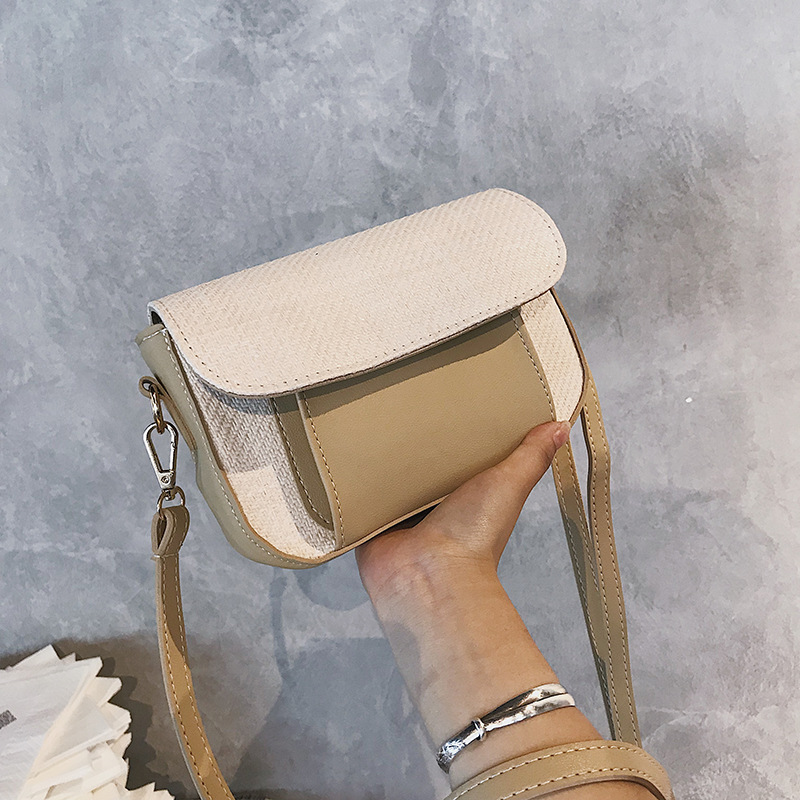 462ecc621136 ICEV small women crossbody bags new 2018 korean style wild messenger single  patchwork straw shoulder bag