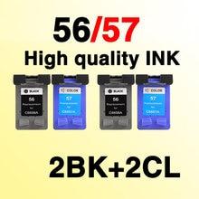 4х чернильные картриджи, совместимые с hp56 56xl для hp57 57xl Deskjet 450 450cbi 450ci 450wbt F4140 F4180 5150 5550