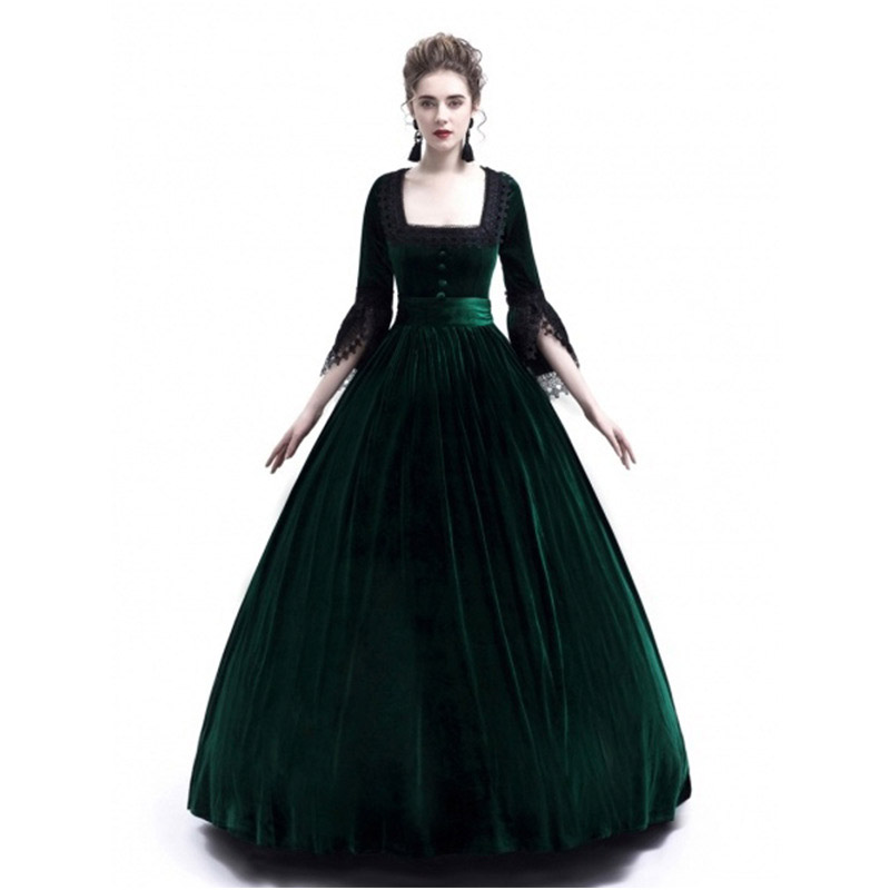 Medieval Dress Costume Women 2018 Winter Plus Size Palace Princess...