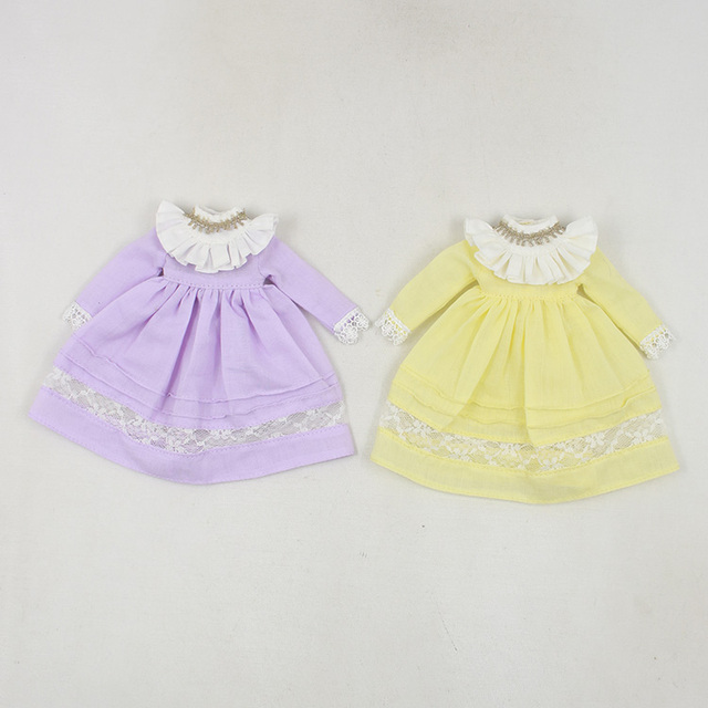 Neo Blythe Doll Yellow Purple Dress