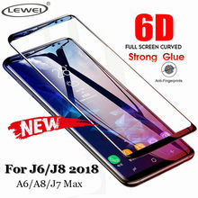 6D Full Curved Tempered Glass For Samsung Galaxy J8 J7 Max J4 J6 Plus Screen Protector For Samsung A8 A6 Plus A9 Protective Film(China)
