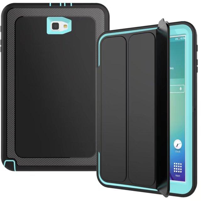 Sm-t580 чехол для Samsung Galaxy Tab 10.1 2016 T580 t585 дети Безопасный противоударный TPU крышка Панцири Hybrid 360 полная защита