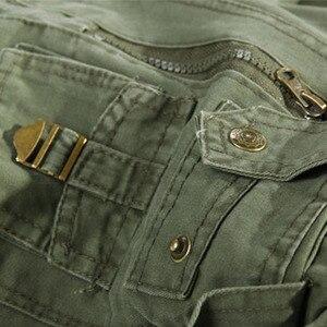 Image 5 - 2019 nowe męskie spodnie bojówki zieleń wojskowa duże kieszenie dekoracje męskie spodnie typu casual łatwe pranie męskie jesienne spodnie wojskowe plus rozmiar 42