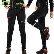 Rockbros зимние штаны для велоспорта для мужчин и женщин длинные велосипедные штаны 3XL 4XL Тепловая Спортивная одежда Pantaloni MTB ветрозащитные велосипедные штаны