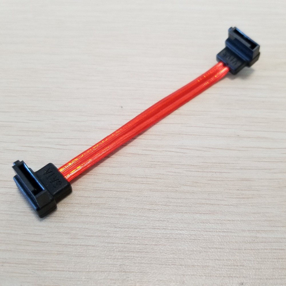 Ultra Slim SATA 3.0 Cable for HDD SSD Straight to 90-degree with Lock 20cm