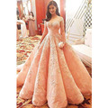 Luxury Empire Ball Gown Prom Dress High Quality Sweetheart Pink Lace Applique Romantic Evening Dress Charming Formal Party Gowns