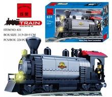 Enlighten 631 Heavy Duty stram Locomotive Series Rail Train locomotive Minifigure 2016 Assemble Building Block   Toys