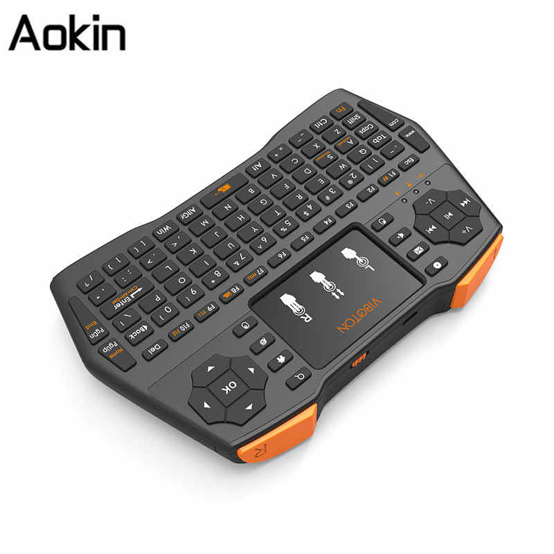 10PCS Mini Handheld 2 4G Wireless QWERTY Keyboard USB Remote Control  Touchpad Keyboard For PC Android TV BOX, Multiple Languages