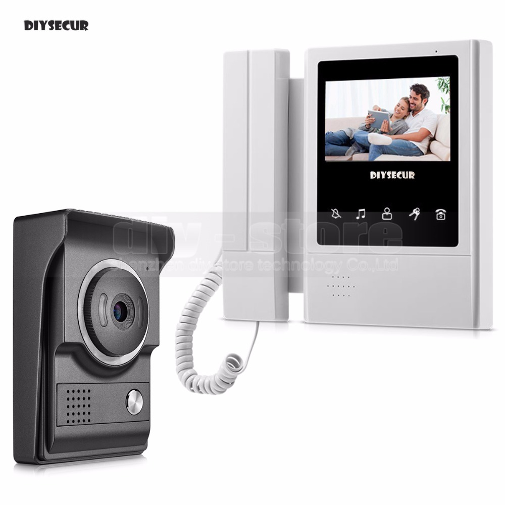 DIYSECUR 4.3inch Video Intercom Video Door Phone 700TV Line IR Night Vision HD Camera For Home Office Factory New