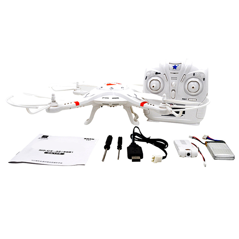 Cheerson 2017 New CX32  4CH 6-axis One Key Functions WIFI Camera Real-Time FPV Transmission RC Quadcopter White Helicopter f09166 10 10pcs cx 20 007 receiver board for cheerson cx 20 cx20 rc quadcopter parts