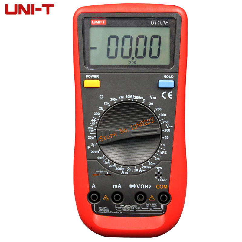 Digital Multimeter UNI-T UT151F   Professional Electrical Handheld Tester  LCR Meter Ammeter Multitester чашка poma с анатомической ручкой в ассортименте