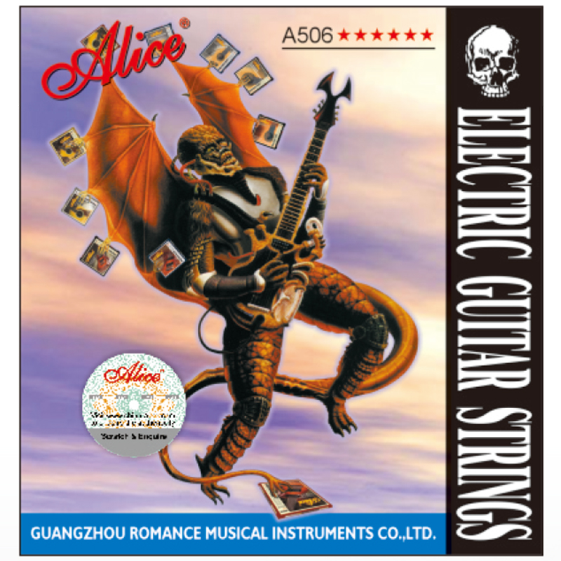 1 Set Original Alice Electric Guitar Strings Plated Steel Nickel Alloy Wound A506-SL