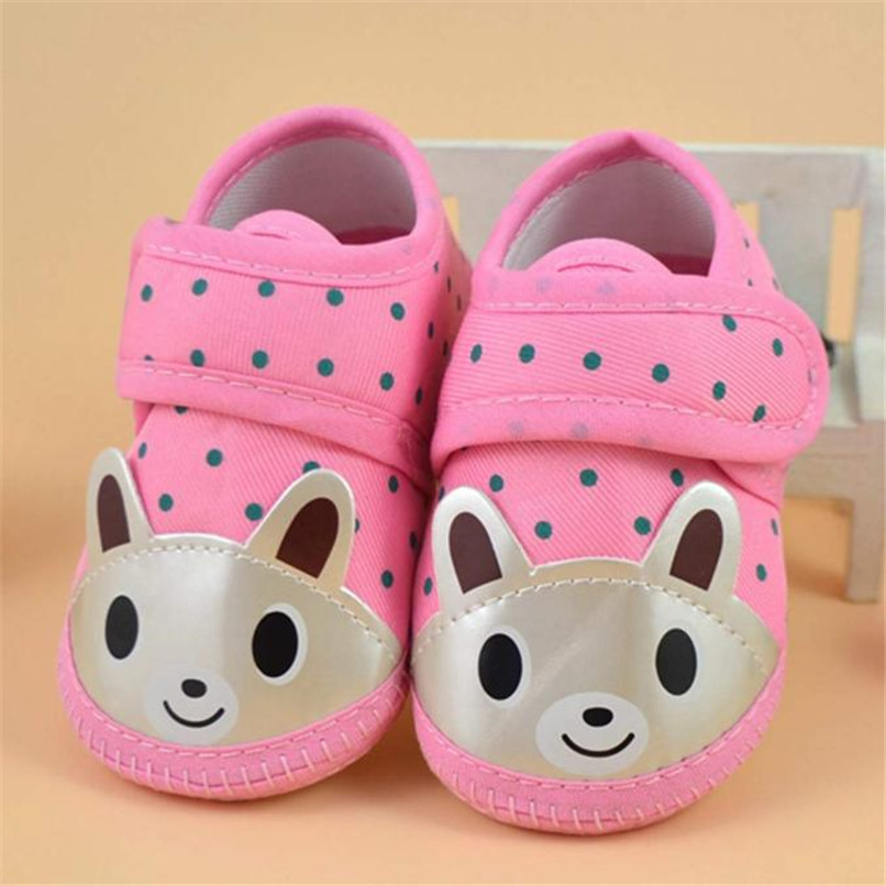 Newborn Girl Boy First Walker Soft Sole Crib Toddler Shoes Canvas Sneaker NDA84L16