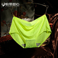 Female ice silk underwear non-trace sexy underwear madame wang triangle waist pure color in the waistband