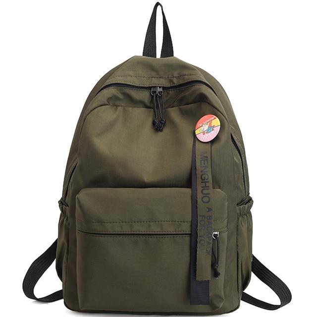 beac61997c694 Odznaka Kobiet plecak Wstążki University Student Plecaki Szkolne Torby  Klasyczne Młodzieżowe Dziewcząt Mody Tornister Mochila