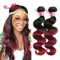 Two Tone Ombre Malaysian Virgin Hair Body Wave 3 Bundle Deals Ombre Human Hair Extensions HOT 7a Unprocessed Malaysian Body Wave