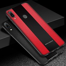 Luxury For Meizu Note 9 Case PU Leather & Acrylic Hard B