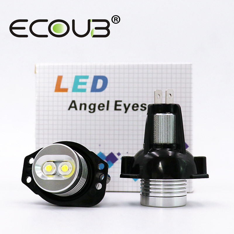 2 Pcs LED Marker For BMW E90 E91 Angel Eyes LED Side Light Bulb White 20W 2006 - 2008 3 Series E90 E91 Seadon Wagon Headlights