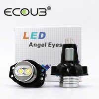 2 uds. Marcador LED para BMW E90 E91 Angel Eyes LED bombilla de luz lateral blanca 20W 2006-2008 3 Series E90 E91 Seadon vagon faros delanteros