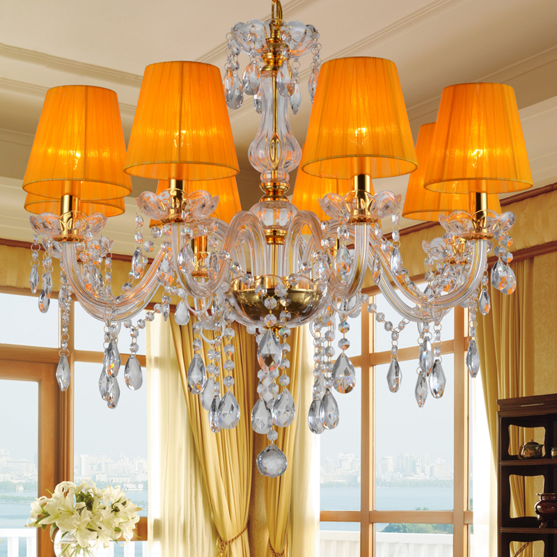 Modern Crystal Chandelier Indoor home lamp lustres de cristal Chandeliers For Living Room or Bedroom Lighting lustre para sala power pw6236frmks