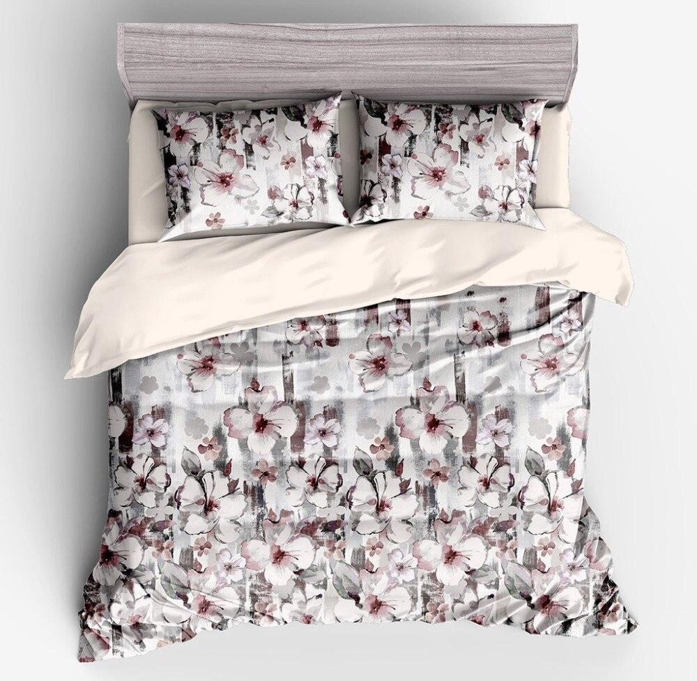 Floral Girls Princess Bedding Set Twin Queen King size Duvet cover Bedsheet set Pillowcase