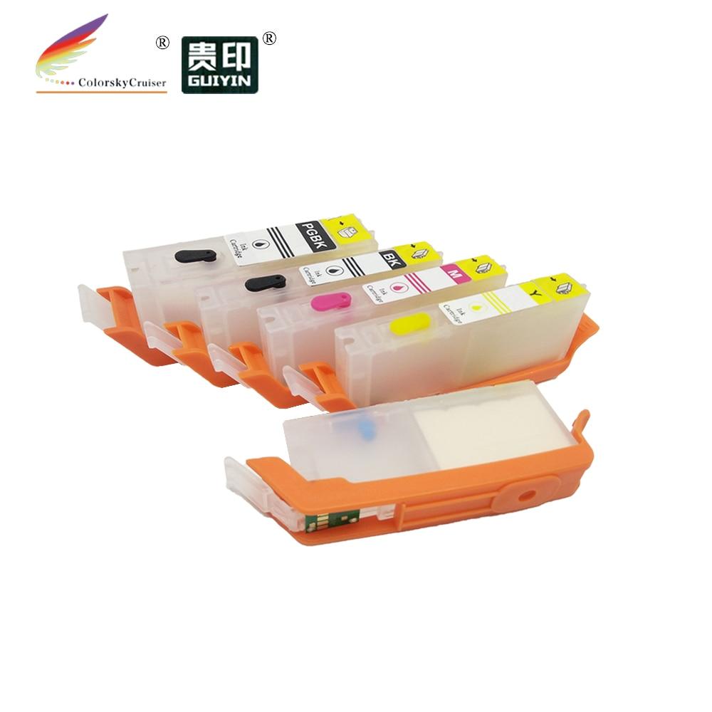 RCC170-5) многоразовый картридж чернильный картридж для принтера Canon принтерам PIXMA MG6810 MG5710 MG-6810 PGI-170 PGI170 PGI 170 CLI-171 CLI171 CLI 171
