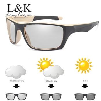 Polarized Photochromic Sunglasses Men Driving Chameleon Sun Glasses Male Day Night Vision Driver UV400 Goggles Lentes Sol Hombre