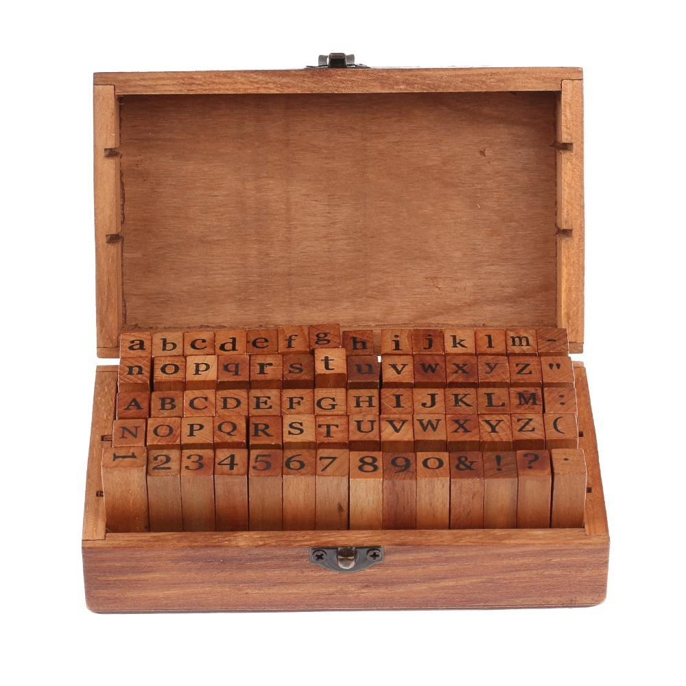 wooden stamps alphabet cursive digital and letters seal 70 pcs set standardized form stamps regular script letters